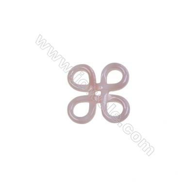 Pink Chinese knot mother-of-pearl shell findings, 15mm, x 10pcs/pack