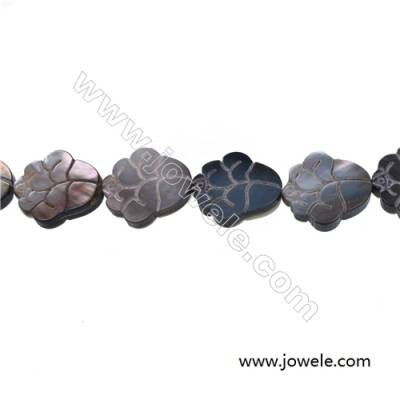 Gray clouds mother-of-pearl shell strand beads, 18x18mm, hole 0.7mm, 20 beads /strand 15~16''