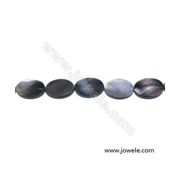 """Gray mother-of-pearl shell oval strand beads, 13x18mm, hole 0.7mm, 21 beads/strand 15~16"""""""