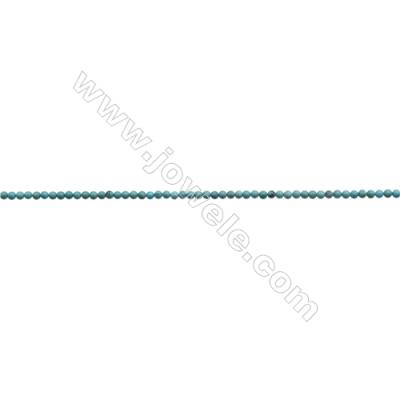 3mm Natural Blue Turquoise Beads Strand  Round  Hole 0.6mm  about 130 beads/strand 15~16""