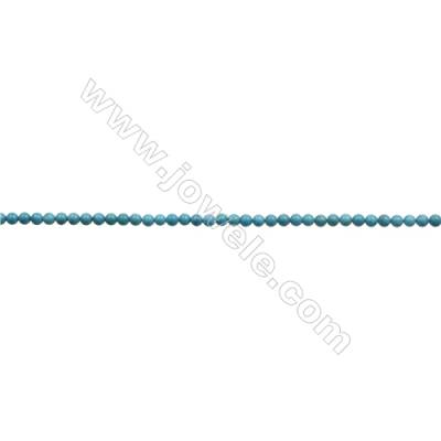 5mm Natural Blue Turquoise Beads Strand  Round  Hole 0.8mm  about 78beads/strand 15~16""
