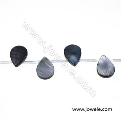 Gray mother-of-pearl water droplets strand beads, 13x18mm, hole 0.7mm, 22 beads/strand 15~16""