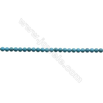 8mm Natural Blue Turquoise Beads Strand  Round  Hole 1mm  about 48beads/strand 15~16""