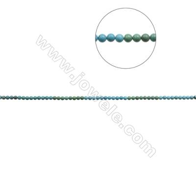 6mm Natural Mix Turquoise Beads Strand  Round  Hole 0.8mm  about 66 beads/strand  15~16""
