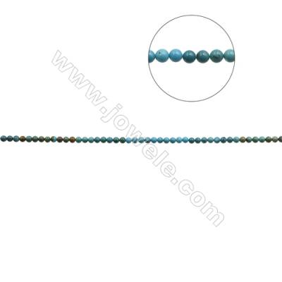 7mm Natural Mix Turquoise Beads Strand  Round  Hole 0.8mm  about 58 beads/strand  15~16""