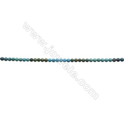 10mm Natural Mix Turquoise Beads Strand  Round  Hole 1mm  about 40 beads/strand  15~16""
