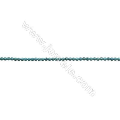 4.5mm Natural Turquoise Beads Strand  Faceted Round  Hole 0.8mm  about 88 beads/strand  15~16""