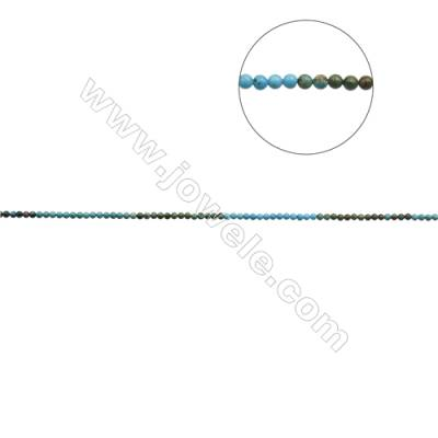 4mm Natural Mix Turquoise Beads Strand  Round  Hole 0.6mm  about 96 beads/strand  15~16""