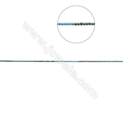 3mm Natural Mix Turquoise Beads Strand  Round  Hole 0.6mm  about 133 beads/strand  15~16""