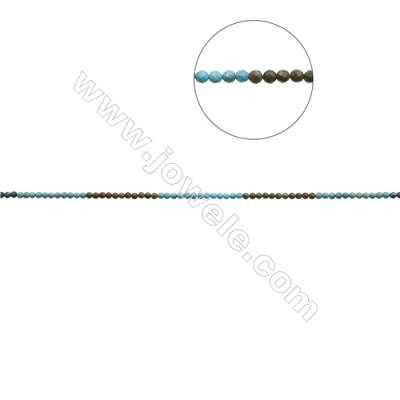 5mm Natural Mix Turquoise Beads Strand  Faceted Round  Hole 0.8mm  about 80 beads/strand  15~16""