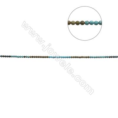 6mm Natural Mix Turquoise Beads Strand  Faceted Round  Hole 0.9mm  about 66 beads/strand  15~16""