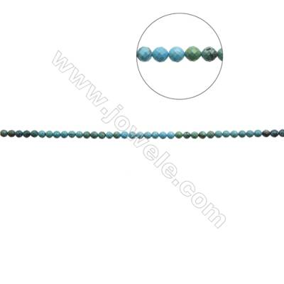 9.5mm Natural Mix Turquoise Beads Strand  Faceted Round  Hole 1mm  about 43 beads/strand  15~16""