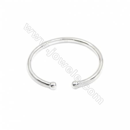 925 Sterling Silver Cuff Bangle x 1piece  Inner Diameter about 60mm  Thick: 4.5x5.5mm