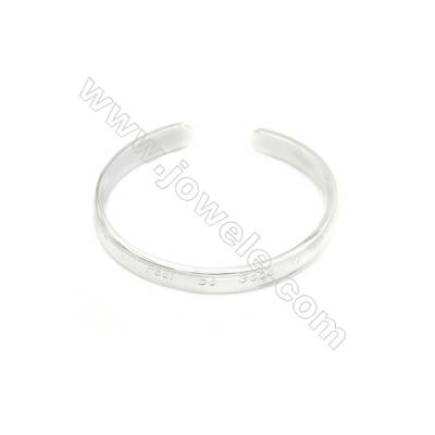 925 Sterling Silver Cuff Bangle x 1piece  Inner Diameter about 60mm  Thick: 2x8mm