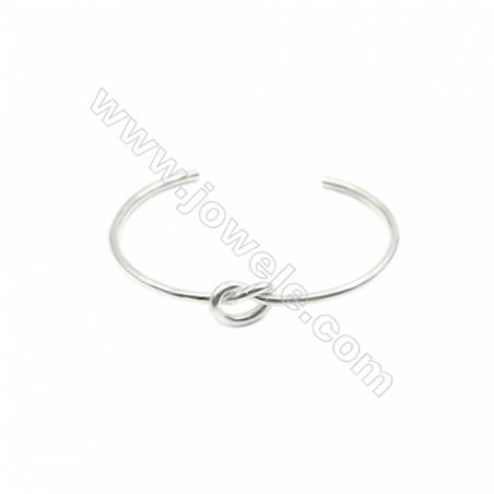925 Sterling Silver Cuff Bangle x 1piece  Inner Diameter about 62mm  Thick: 2.5mm