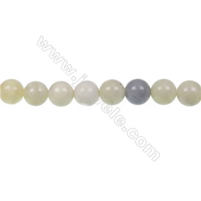 Australian round butter Jade strand beads  diameter 10mm  hole 1.2 mm  40 beads/strand   15~16""