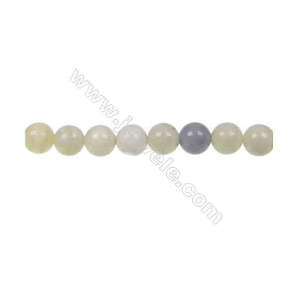 "Australian round butter Jade strand beads  diameter 10mm  hole 1.2 mm  40 beads/strand   15~16"""