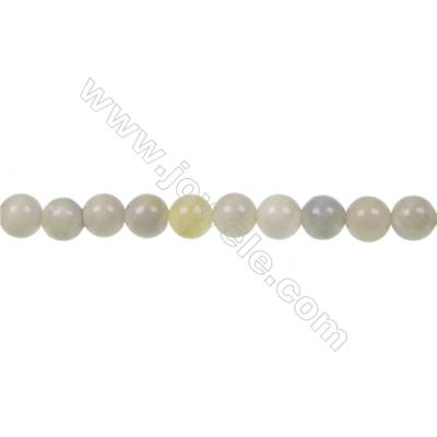 Australian round butter Jade strand beads, Diameter 6mm, Hole 1mm, 67 beads/strand 15~16""