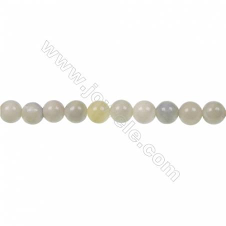 "Australian round butter Jade strand beads, Diameter 6mm, Hole 1mm, 67 beads/strand 15~16"""