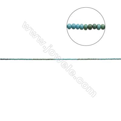 Mix Color Natural Turquoise Beads Strand  Abacus  2.5x3mm  Hole 0.6mm  about 160 beads/strand  15-16""