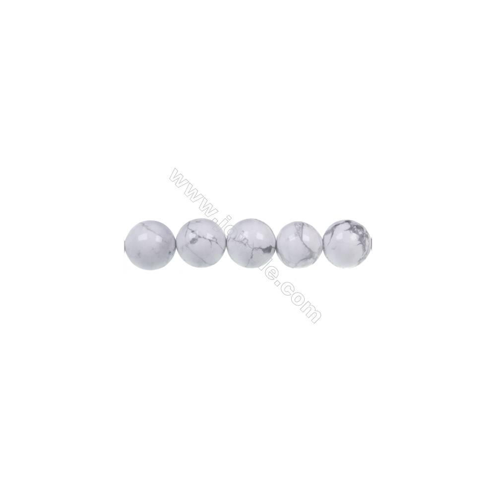 """White howlite round strand beads, Diameter 12mm, Hole 1.5 mm, 32 beads/strand 15~16"""""""