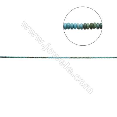 Mix Color Natural Turquoise Beads Strand  Abacus  2x4mm  Hole 0.6mm  about 200 beads/strand  15-16""