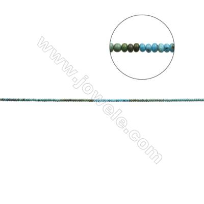 Mix Color Natural Turquoise Beads Strand  Abacus  2.5x4mm  Hole 0.6mm  about 160 beads/strand  15-16""