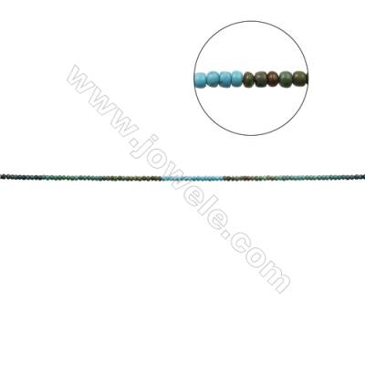 Mix Color Natural Turquoise Beads Strand  Abacus  3x5mm  Hole 0.6mm  about 130 beads/strand  15-16""