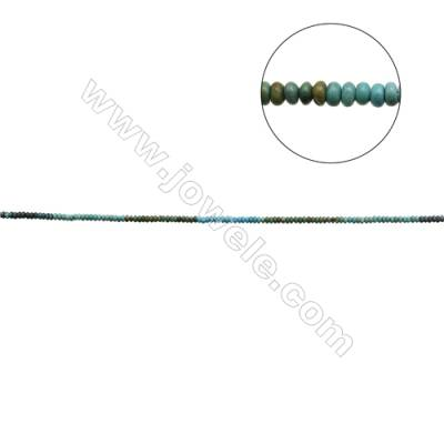 Mix Color Natural Turquoise Beads Strand  Abacus  3x5.5mm  Hole 0.6mm  about 125 beads/strand  15-16""