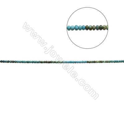 Mix Color Natural Turquoise Beads Strand  Abacus  4x6.5mm  Hole 0.8mm  about 95 beads/strand  15-16""