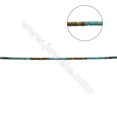 Mix Color Natural Turquoise Beads Strand  Abacus  2.5x7mm  Hole 0.6mm  about 140 beads/strand  15-16""