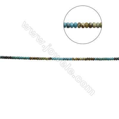 Mix Color Natural Turquoise Beads Strand  Abacus  4x8mm  Hole 0.6mm  about 96 beads/strand  15-16""