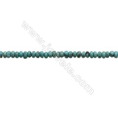Natural Turquoise Beads Strand  Abacus  2.5x4mm  Hole 0.6mm  about 160 beads/strand  15-16""