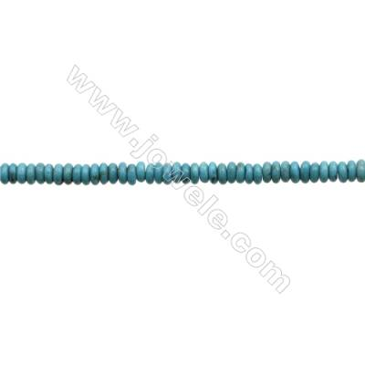 Natural Turquoise Beads Strand  Abacus  1.5x4.5mm  Hole 0.6mm  about 260 beads/strand  15-16""