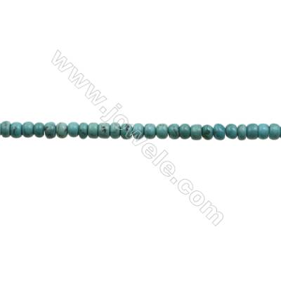 Natural Turquoise Beads Strand  Abacus  3x4.5mm  Hole 0.6mm  about 128 beads/strand  15-16""