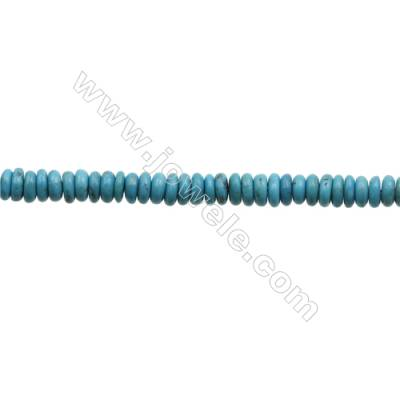 Natural Turquoise Beads Strand  Abacus  2x6.5mm  Hole 0.6mm  about 173 beads/strand  15-16""