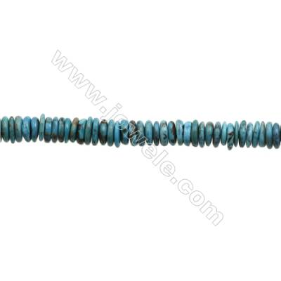 Natural Turquoise Beads Strand  Abacus  2x8mm  Hole 0.8mm  about 181 beads/strand  15-16""