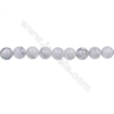 Natural stome white Howlite round beaded strand, Diameter 4mm, Hole 0.8mm, 84 beads/strand 15 ~ 16''
