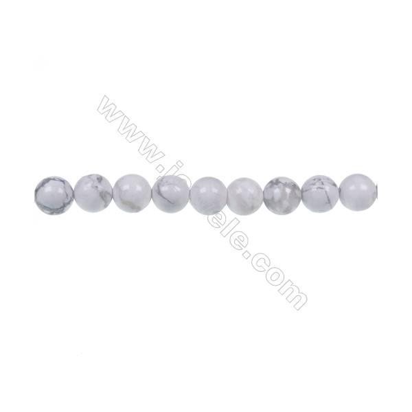 Natural stome white Howlite round beaded strand, Diameter 4mm, Hole 0.8mm, 84 beads/strand 15 ~ 16''