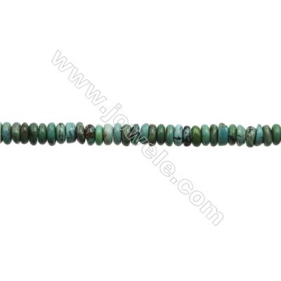 Natural Turquoise Beads Strand  Abacus  2x6mm  Hole 0.6mm  about 170 beads/strand  15-16""