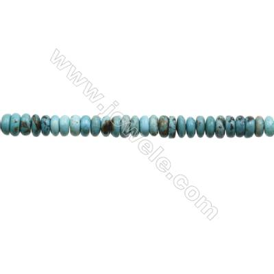 Natural Turquoise Beads Strand  Abacus  2.5x6.5mm  Hole 0.6mm  about 143 beads/strand  15-16""