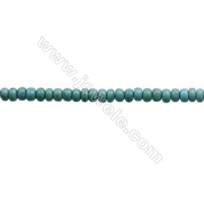 Natural Turquoise Beads Strand  Abacus  4x6.5mm  Hole 0.6mm  about 95 beads/strand  15-16""