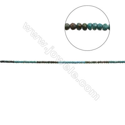 Mix Color Natural Turquoise Beads Strand  Faceted Abacus  4x5.5mm  Hole 0.6mm  about 100 beads/strand  15-16""