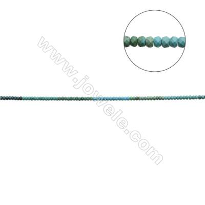 """Mix Color Natural Turquoise Beads Strand  Faceted Abacus  4x6.5mm  Hole 0.6mm  about 91 beads/strand  15-16"""""""