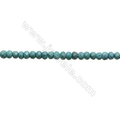 Natural Turquoise Beads Strand  Faceted Abacus  3.5x5.5mm  Hole 0.6mm  about 103 beads/strand  15-16""