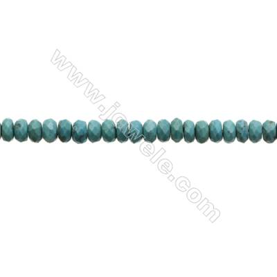 Natural Turquoise Beads Strand  Faceted Abacus  5x7.5mm  Hole 0.6mm  about 95 beads/strand  15-16""