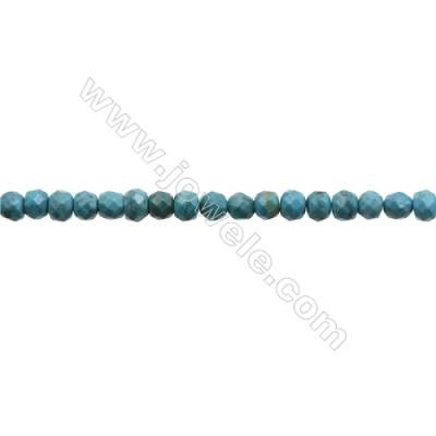 Natural Turquoise Beads Strand  Faceted Abacus  5x6mm  Hole 0.8mm  about 80 beads/strand  15-16""