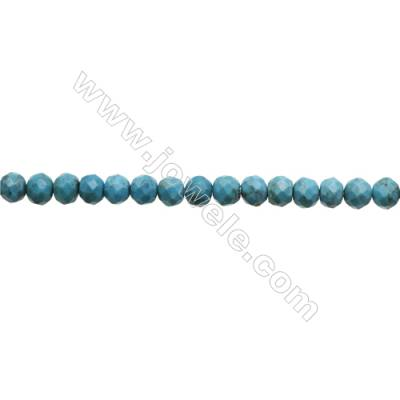 Natural Turquoise Beads Strand  Faceted Abacus  6x7mm  Hole 0.6mm  about 66 beads/strand  15-16""
