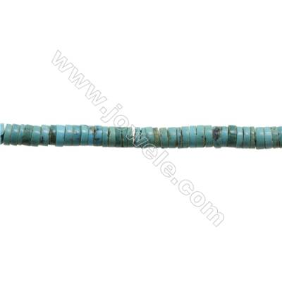 Natural Turquoise Beads Strand  Column  2x6mm  Hole 0.6mm  about 190 beads/strand  15-16""