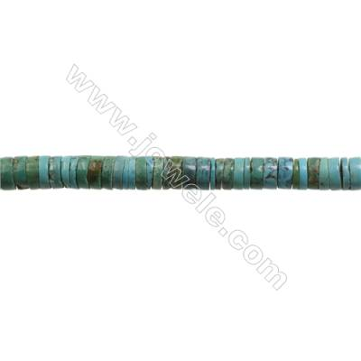 Natural Turquoise Beads Strand  Column  3x8mm  Hole 0.6mm  about 125 beads/strand  15-16""